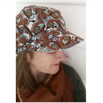 Slouchy Hat Butterflies Hat Cotton Cap Funky Hat Butterflies  Cap